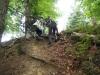 Kletterpartie aus dem Hohlweg raus