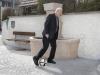 ...und der Fotograf Dänu Lüscher konnte es nicht lassen, einen Fussball ins Bild zu montieren.