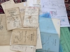 Jede Menge Kaufbriefe zum Haus Dorfstrasse 28. Auffällig die Namen der jüdischen Kaufleute, was später noch ausgiebige Recherchen nach sich zog.