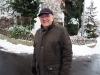 Interview mit Ruedi Meier in grösster Winterkälte. Manchmal half es, Gespräche im Freien und bei einem Wilen-Rundgang zu führen. Hätte man aber auch bei wärmeren Temperaturen machen können...