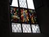 Das Fenster in der Kirche St. Nikolaus, das 1933 von den Wilener Ortsbürgern gestiftet und von Albert Hinter gemalt worden war. Mit einer Leiter wäre das Foto besser geworden, aber man wollte ja nicht auffallen...