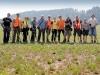 Das Suchteam vom 3. August 2018 mit dem Kantonsarchäologen Hansjörg Brem
