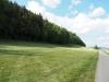 Blick auf den «Hummelbärg» mit dem alten Fussweg am Waldrand, Wilen bei Wil. Blickrichtung Dorf.