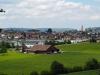 Im Wuhrenholz - Hohlweg, Wilen bei Wil - Ausblick auf Wilen und Wil